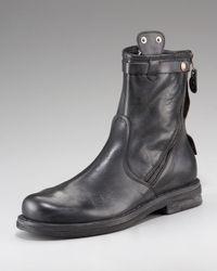 True Religion Black Zora Diagonal-zip Boot for men