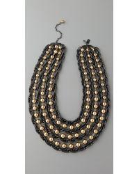 Tuleste | Metallic Ball & Chain Necklace | Lyst