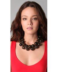 Tuleste | Metallic Braided Marble Necklace | Lyst