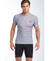 Under Armour | Gray Heatgear® Short Sleeve Compression Shirt for Men | Lyst
