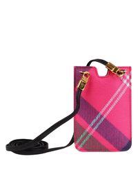 Vivienne Westwood - Pink Derby Tartan Iphone Case - Lyst