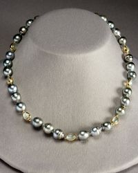 Assael - Metallic Tahitian Pearl and Moonstone Strand Necklace - Lyst