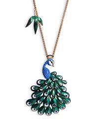 Betsey Johnson | Metallic Asian Jungle Long Statement Pendant Necklace | Lyst