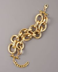 Devon Leigh   Metallic Two-strand Chain Bracelet   Lyst