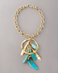 Devon Leigh | Blue Turquoise Drop Necklace | Lyst