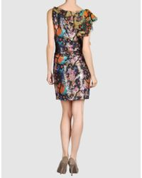 Diane von Furstenberg | Black Layla Abstract Print Silk Dress | Lyst