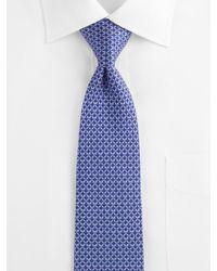 Ferragamo   Blue Interlocking-links Silk Necktie for Men   Lyst