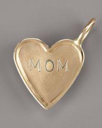 Heather Moore - Metallic Mom Heart Charm - Lyst