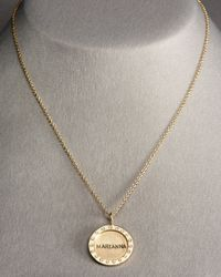 Heather Moore | Metallic Medium Personalized Diamond Charm | Lyst