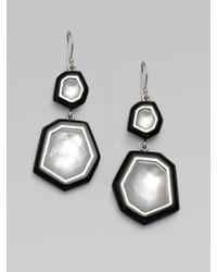 Ippolita | Black Quartz Adorned Sterling Silver Enamel Earrings | Lyst