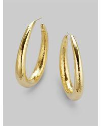 Ippolita | Metallic 18k Gold Long Hoop Earrings | Lyst