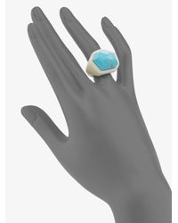 Ippolita | Blue Turquoise, Sterling Silver & Ivory Resin Ring | Lyst