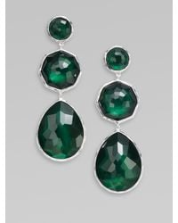 Ippolita - Green Clear Quartz, Morther-of-pearl & Sterling Silver Drop Earrings - Lyst