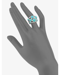 Ippolita - Blue Turquoise & Sterling Silver Constellation Ring - Lyst