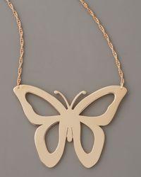 Jennifer Zeuner | Metallic Cutout Butterfly Necklace | Lyst