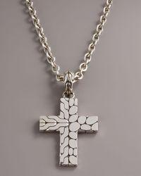 John Hardy - Metallic Kali Cross Pendant for Men - Lyst