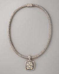 John Hardy - Metallic Naga Square-pendant Necklace - Lyst