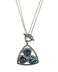 Judith Jack | Abyss Blue Abalone Convertible Pendant Necklace | Lyst