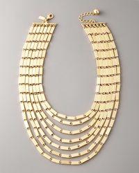 kate spade new york - Metallic Gold Rush Collar Necklace - Lyst