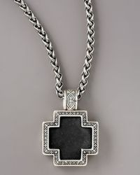 Konstantino - Black Paganini Onyx Cross Necklace for Men - Lyst
