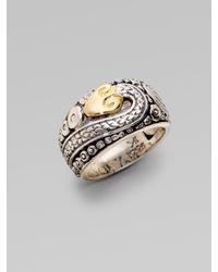 Konstantino | Metallic Sterling Silver & 18k Yellow Gold Snake Ring | Lyst