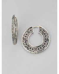 Konstantino | Metallic Sterling Silver Disc Hoop Earrings/1½ | Lyst