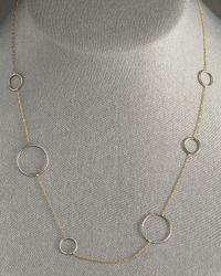 Lana Jewelry - Metallic Adoring Circle Necklace - Lyst