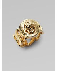 Marc By Marc Jacobs   Metallic Katie Turnlock Ring   Lyst