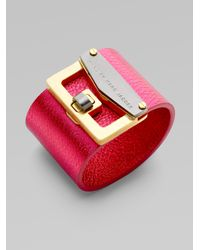 Marc By Marc Jacobs | Pink Bianca Leather Cuff | Lyst
