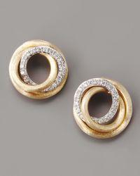 Marco Bicego - Metallic Jaipur Diamond-link Stud Earrings - Lyst