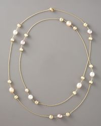Marco Bicego - White Pearl & Gold Necklace, 47 1/4l - Lyst