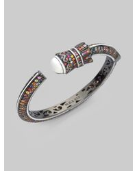 M.c.l  Matthew Campbell Laurenza - Multicolor Sapphire & Sterling Silver Armored Detail Bracelet - Lyst