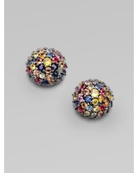 M.c.l  Matthew Campbell Laurenza | Multicolor Sapphire & Sterling Silver Dome Earrings | Lyst