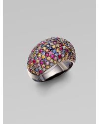 M.c.l  Matthew Campbell Laurenza | Multicolor Stardust Multi-colored Sapphire Pavé Ring | Lyst