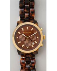 Michael Kors - Brown Tortoise Watch - Lyst