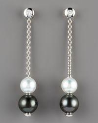 Mikimoto - Pearls-in-motion Earrings, Black/white - Lyst