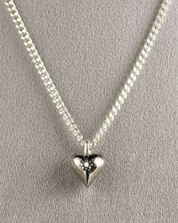 Mizuki - White Diamond Heart Necklace - Lyst
