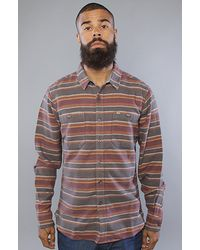 Obey | Gray The Veracruz Buttondown Shirt in Heather Charcoal for Men | Lyst