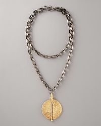 Paige Novick | Metallic Golden Pendant Necklace | Lyst