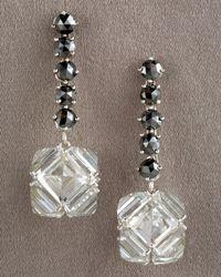 Paolo Costagli - Multicolor Black Diamond & White Topaz Earrings - Lyst