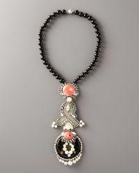 Ranjana Khan - Black Flamingo Pendant Necklace - Lyst