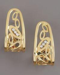 Roberto Coin | Metallic Chic & Shine Hoop Earrings | Lyst