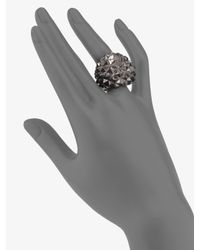 Stephen Webster | Metallic Blackened Sterling Silver Textured Dome Ring | Lyst