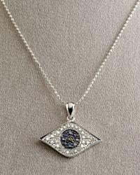 Sydney Evan | Metallic Large Evil Eye Necklace | Lyst