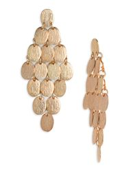 Tasha | Metallic Disc Chandelier Earrings | Lyst