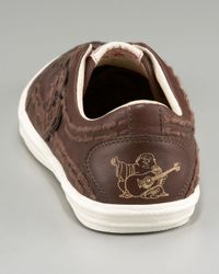 True Religion | Brown Stitch It Leather Sneaker for Men | Lyst