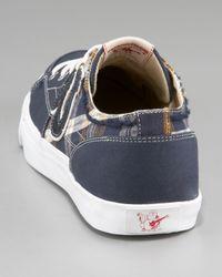 True Religion - Blue Hanabel Plaid Low-top Sneaker for Men - Lyst