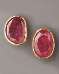 Yvel | Pink Sapphire Stud Earrings | Lyst