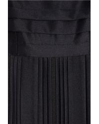 Black Fleece By Brooks Brothers - Black Pleated Wool Dress - Lyst