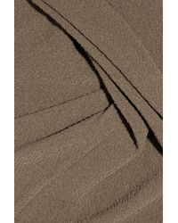 Donna Karan | Brown Textured Wool-crepe Skirt | Lyst
